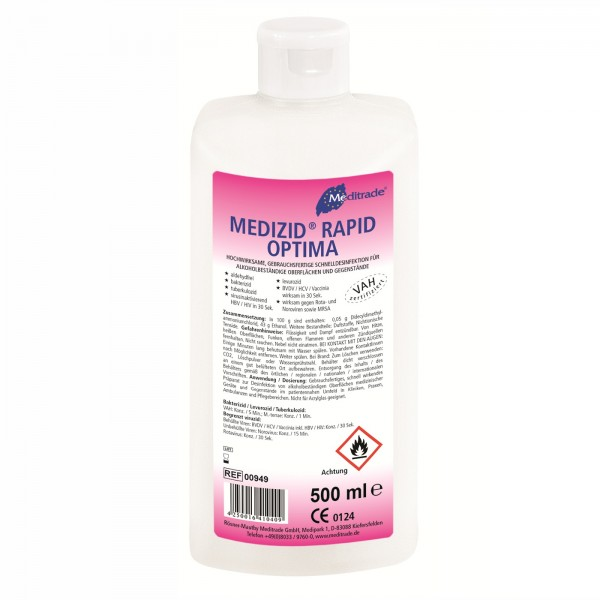 Meditrade Medizid Rapid Optima Schnelldesinfektion, 500 ml