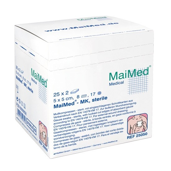 MaiMed Kompressen (steril), 5x5cm, 25x2 Stück