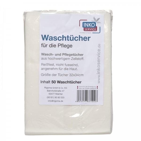 Inkoservice Waschtücher für die Pflege, 50 Stück