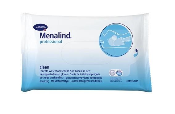 Hartmann Menalind prof Feuchte Waschhandschuhe zum Baden im Bett