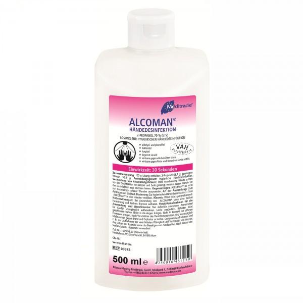 Meditrade Alcoman Händedesinfektion, 500ml