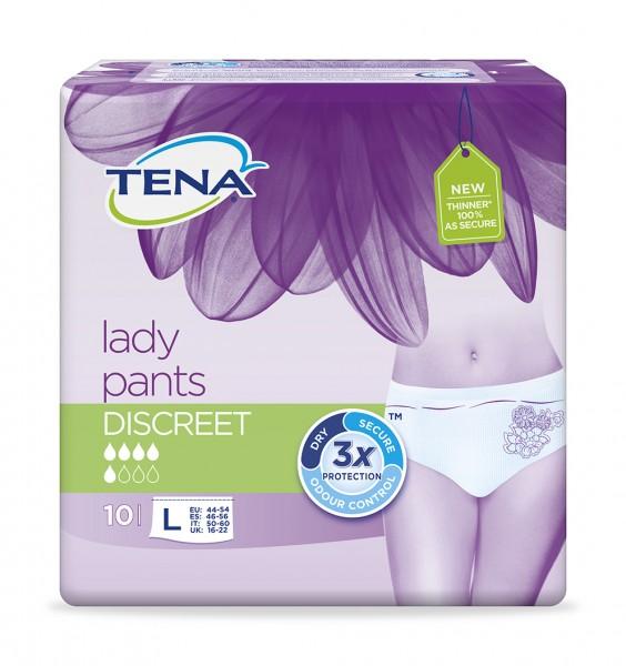 Tena Lady Pants Discreet L, 10 Stück